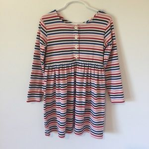 Hanna Andersson long sleeve striped dress 110